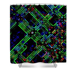 Diffusion Component Shower Curtain by Will Borden
