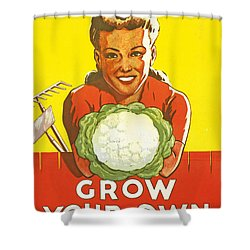 Dig For Victory Shower Curtain by English School