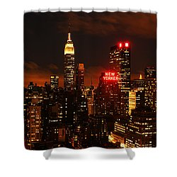 Digital Sunset Shower Curtain by Andrew Paranavitana