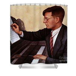 Dimitri Shostakovich Shower Curtain by Granger