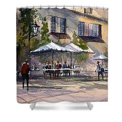Dining Alfresco Shower Curtain by Ryan Radke