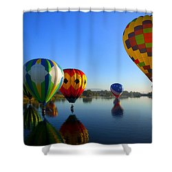 Dip And Go Shower Curtain by Mike  Dawson