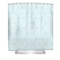 Dip In The Pool -  Pattern Art By Linda Woods Shower Curtain by Linda Woods