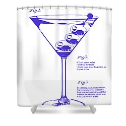 Dirty Martini Blueprint Shower Curtain by Jon Neidert