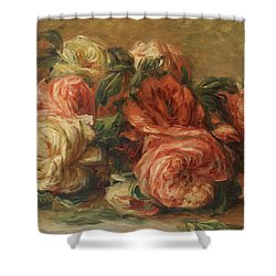 Discarded Roses  Shower Curtain by Pierre Auguste Renoir
