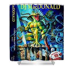 Dj Macdonald Book Cover Shower Curtain by Hanne Lore Koehler