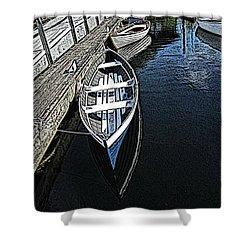 Dockside Quietude Shower Curtain by Tim Allen