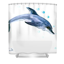 Dolphin Shower Curtain by Suren Nersisyan