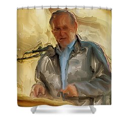 Donald Rumsfeld Shower Curtain by Brian Reaves
