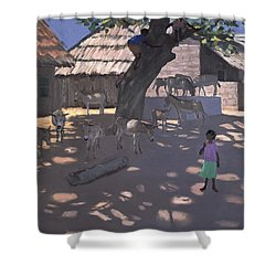 Donkeys Lamu Kenya Shower Curtain by Andrew Macara