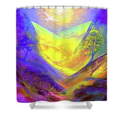Dove Valley Shower Curtain by Jane Small