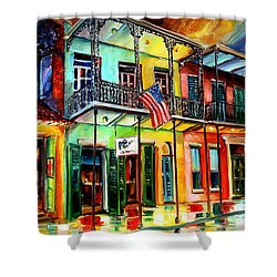 Down On Bourbon Street Shower Curtain by Diane Millsap