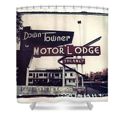 Down Towner Shower Curtain by Jane Linders