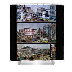 Downtown Portsmouth 1948 Shower Curtain by Frank Hunter