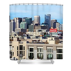 Downtown San Francisco Shower Curtain by Kelley King