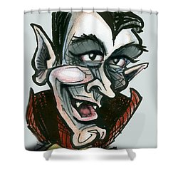 Dracula Shower Curtain by Kevin Middleton