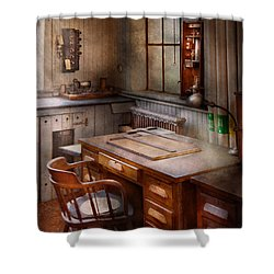 Drafting - Where Ideas Come From  Shower Curtain by Mike Savad