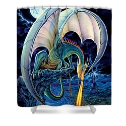 Dragon Causeway Shower Curtain by The Dragon Chronicles - Robin Ko