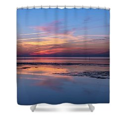 Shower Curtain featuring the photograph Draw The Line by Thierry Bouriat