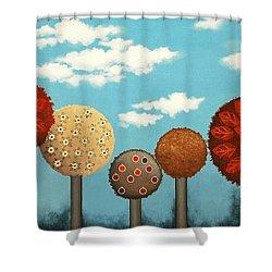 Dream Grove Shower Curtain by Graciela Bello