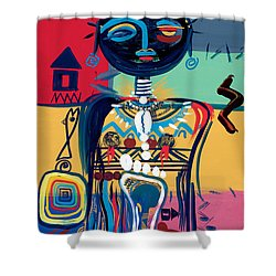 Dreaming Of Africa Shower Curtain by Oglafa Ebitari Perrin