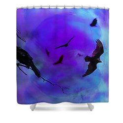 Dreaming Of Flying Shower Curtain by Bill Cannon