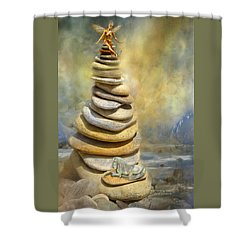 Dreaming Stones Shower Curtain by Carol Cavalaris
