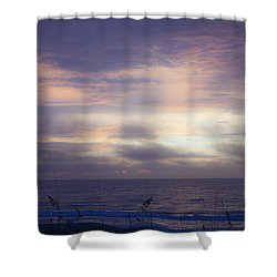 Dreamy Blue Atlantic Sunrise Shower Curtain by Teresa Mucha