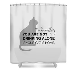 Drinking With Cats Shower Curtain by Nancy Ingersoll