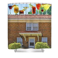 Drinks On The House Shower Curtain by Nikolyn McDonald