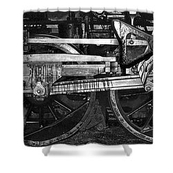 Driving Wheels Shower Curtain by Richard Rizzo