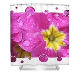 Drops Upon Raindrops 3 Shower Curtain by Carol Groenen