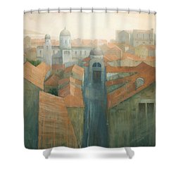 Dubrovnik Rooftops Shower Curtain by Steve Mitchell