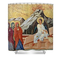 Duccio - Three Marys Shower Curtain by Granger