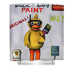 Duck Boy Shower Curtain by Leah Saulnier The Painting Maniac