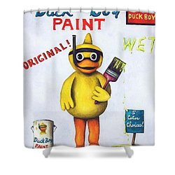 Duck Boy Paint Shower Curtain by Leah Saulnier The Painting Maniac
