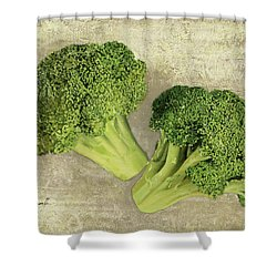 Due Broccoletti Shower Curtain by Guido Borelli