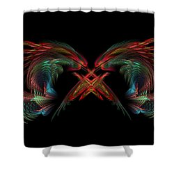 Dueling Dragons Shower Curtain by Lyle Hatch