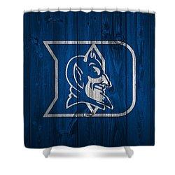 Duke Blue Devils Barn Door Shower Curtain by Dan Sproul