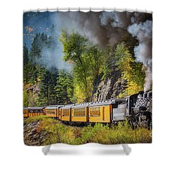 Durango-silverton Narrow Gauge Railroad Shower Curtain by Inge Johnsson