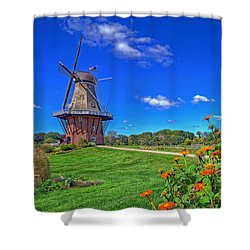 Shower Curtain featuring the photograph Dutch Windmill by Rodney Campbell