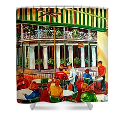 Early Morning At The Cafe Du Monde Shower Curtain by Diane Millsap