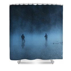 Early Morning Fishing Shower Curtain by Tamyra Ayles