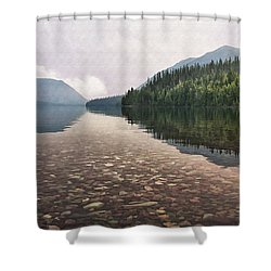 Early Morning On Lake Mcdonald II Shower Curtain by Sharon Foster