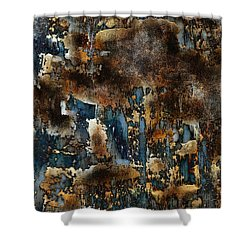 Shower Curtain featuring the painting Earth Tone Abstract by Frank Tschakert