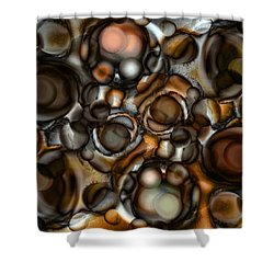 Shower Curtain featuring the painting Earth Tone by Frank Tschakert