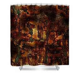 Shower Curtain featuring the painting Earth Tones by Frank Tschakert