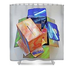 Earthquake 2 Shower Curtain by Charles Stuart