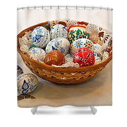 Easter Eggs Shower Curtain by Louise Heusinkveld