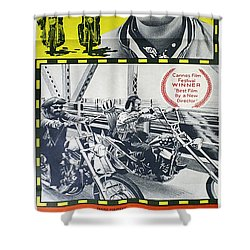 Easy Rider Movie Lobby Poster  1969 Shower Curtain by Daniel Hagerman